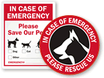 In Case of Emergency Stickers