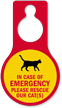 Please Rescue Our Cats Door Hang Tag