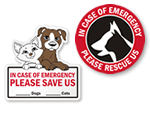In Case of Emergency Pet Rescue Stickers