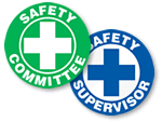 Safety Committee Hard Hat Labels