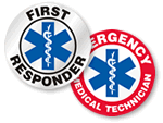 Star of Life Hard Hat Stickers - For Medical & Emergency Response Workers