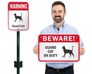 Beware of Cats Signs