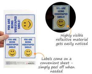 Reflective security labels