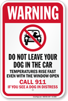 Do Not Leave Your Dog In Car Sign