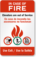 When Fire Elevators Out of Service Sign
