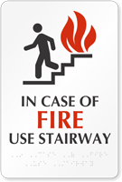 Fire Use Stairway Sign