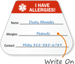 I Have Allergies Write-On Hard Hat Decals