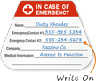 In Case Of Emergency Write-On Hard Hat Decals