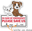In Case Of Emergency Save Pets Window Decal