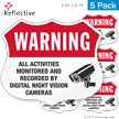 Warning Activities Monitored And Recorded Shield Label Set