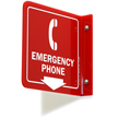 2 Sided Projecting Emergency Phone Sign