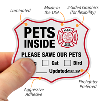 Alert - Please Save Our Pets,Rescue sticker