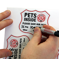 Pets Inside Shield Label Set