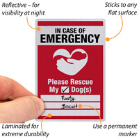 In Case Of Emergency Label