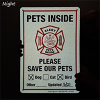 Alert - Please Save Our Pets Sign