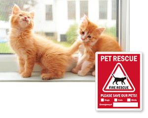 """Get Rescue Alert Stickers. Obtain a free ASPCA """"Animals Inside"""" packet &  sticker and place them on your doors or windows, including information on  the ..."""